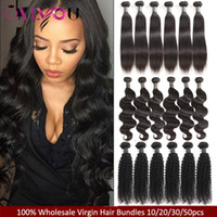 Cheap 9A Brazilian Virgin Human Hair Extensions 10 pcs lot W...