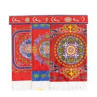 Yaratıcı Tek Kullanımlık Plastik Masa Örtüsü Eid Ramadan Masa Örtüsü Masa Örtüsü Müslüman İslamcılık Dekorasyon Için Su Geçirmez QW8571