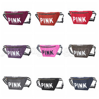 10 Colors Optional Pink Fanny Pack Pink Letter Waist Belt Ba...