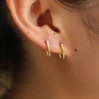 Rings Designer Gold 925 Polished Sterling Silver 2021 Earring Ear Simple Lovely Color Minimal Wire Bar Girl Design Women Delicate Pmpbn