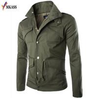 MKASS Marka Yeni Sonbahar Ceket Erkekler Ince Moda Ceket Taktik Adam Ceket Ceket Jaqueta Masculina Artı Boyutu 4XL