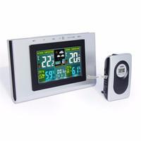 Thermomètre intérieur extérieur Thermomètre 433 MHZ sans fil Station météo Prévisions Temp Alert Clock avec émetteur extérieur + porte récepteur H127G