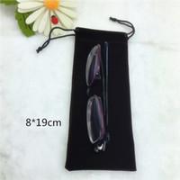 8-19 CM Black Velvet Durevole Antipolvere occhiali da sole sacchetto occhiali morbidi borsa occhiali caso Drawstring Bag Eyewear Accessori
