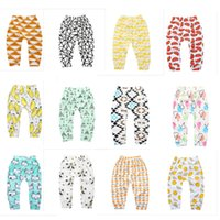 Ins Baby Clothes Baby Girlls PP Pantaloni Leggings Bambini Lovely Fox Pants Bottoming 2018 Nuovi vestiti Boys Lemon Leggings Trasporto veloce