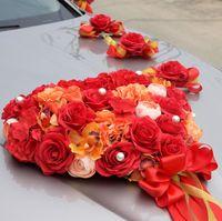 Праздничные принадлежности, свадебные принадлежности для украшения автомобилей, подарок на заказ оптом, красные пожарные товары свадебный автомобиль