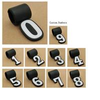 Nuovi numeri in silicone personalizzati per il numero di baseball della collana in titanio di sport Tornado