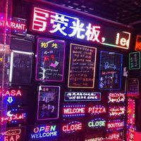 Iş uygulamaları için LED neon burcu ışıkları bar mağaza hastane custom made açık neon tabela, aydınlık kahve mağaza bar adı burcu mektubu
