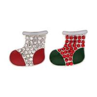 Wysokiej Jakości Boże Narodzenie 017 18mm 20mm Rhinestone Metalowy przycisk do Snap Przycisk Bransoletka Naszyjnik Biżuteria Dla Kobiet Srebrna Biżuteria