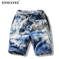 wholesale 2018 Summer Graffiti Flowers Print Casual Shorts M...