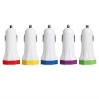 الملونة 5 ألوان القيل والقال المثمن نمط رخيصة 2usb 2 usb 5 فولت 2.1a + 1a تهمة سيارة محول مصنع الجملة للهاتف 300 قطعة / الوحدة