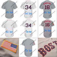 2018 estrelas listras Boston Jersey 16 Andrew Benintendi 2 Xander Bogaerts 28 JD Martinez 34 David Ortiz 41 Chris Venda Baseball Camisas