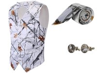 white Hunting groom Vests 4 piece set Mossy Oak Camouflage H...