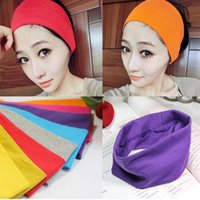 Wholesale New 28 Candy colors Cotton Sports Headband for Men...