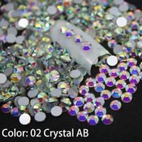 1440 pz / pacco SS3-SS50 cristallo AB decorazioni per unghie decorazioni con strass per 3d fascino vetro flatback non hotfix decorazioni per unghie fai da te