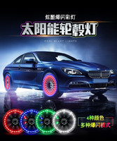 Car solar tires lights valve decorative lights motorcycle
