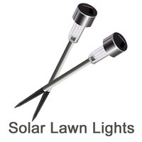 New LED Solar Lights Sun Lawn Light Stainless Garden Outdoor...