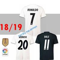 18 19 리얼 마드리드 아 센시 오 축구 유니폼 2018 RONALDO KROOS AWAY 라모스 ISCO MODRIC 마르셀로 캐미셔너 데 3RD 2019 JERSEY SHIRTS