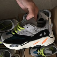 With box Kids Running Shoes Kanye West Wave Runner 700 Youth...