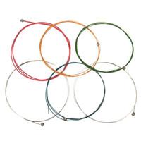 6 قطعة / المجموعة 80 سنتيمتر متعدد الألوان سلاسل الغيتار الصوتية بدائل الآلات الموسيقية للأجزاء الكلاسيكية الملحقات