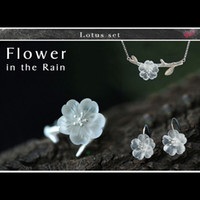 Lotus Fun Real 925 Sterling Silver Handmade Fine Jewelry Flo...