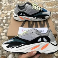 With Box 2018 New Kanye West 700 Wave Runner Mauve Grey Soli...