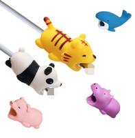 36styles 케이블 물린 동물 물린 케이블 보호 액세서리 장난감 케이블은 아이폰 스마트 폰 충전기 코드에 대한 개 돼지 코끼리 홀로 틀을 물린