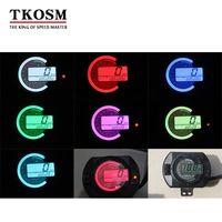 TKOSM 12500 RPM Moto Contachilometri LCD Contachilometri Digitale MPH 7 Colori Retroilluminazione Moto Speedo Meter Contagiri Calibro