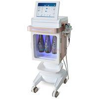 5 в 1 Новейший Корея Микродермабразия лица Оборудование Hydra лица Bio Текущий Oxygen Спрей RF лифтинга лица Cooling молоток массажа Hydro Peel