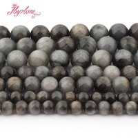 6, 8, 10mm Smooth Round Ball Eagle Eye Beads Natural Stone Bea...