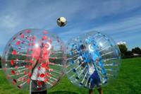 Spedizione gratuita 1.5M PVC Bubble Soccer Ball, criceto Palla umana, gonfiabile Bumper Ball sfera di Zorb