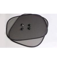 2 pezzi Nero Auto Parasole Parasole posteriore Parasole Parasole Visiera Shield Schermo Protezione solare con 4 ventose