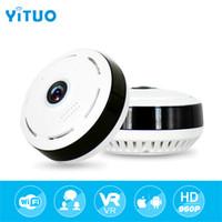 HD Wi-fi Mini Câmera IP 360 Graus de Segurança Em Casa Sem Fio P2P Wifi IP Câmera de CCTV 1.3MP 960PH Câmeras de Vigilância de Vídeo YITUO