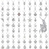 2018 Perle Käfig Anhänger Halskette Liebes Wunsch Natürliche Perle Mit Oyster Perle Mix Design Mode Hohl Medaillon Schlüsselbein Kette Diffusor Halskette