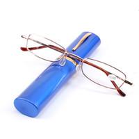 Occhiali da vista con montatura in metallo Colori moda occhiali da vista Occhiali da sole trasparenti Unisex da +1.0 a +4.0