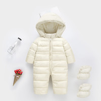 Baby Boys Girls Coats Snow Wear Infant Toddler Boys Rompers Coats Casual Kids Down Coats