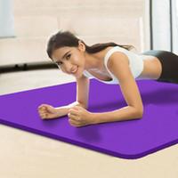 Большой размер 185 * 80см Покрытием Йога Маты 15мм для фитнеса Спортивный коврик йога коврик Гимнастический зал Pad НБР Высокий отскок на открытом воздухе кемпинга