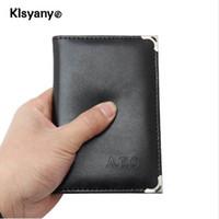 Nouveau Klsyanyo PU cuir russe permis de conduire couverture pour documents de conduite de voiture titulaire de la carte d'affaires titulaire de la carte d'identité sac de carte bancaire