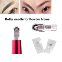 New arriving roller pin agulhas para sombreamento de nevoeiro muito fácil de coloração microblading agulhas para maquiagem sobrancelha maquiagem permanente agulhas