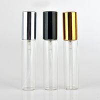 30pcs / lot 10ML زجاجة عطر فارغة مع البخاخة زجاجة عطر صغيرة في إعادة الملء مع غطاء الألومنيوم