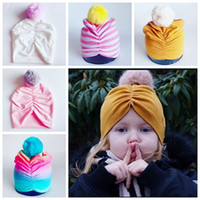 2018 fall winter hats caps toddler pom poms hats fashion kid...
