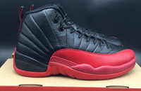 AAAAA 12 Black Red Flu Game Basketball Shoes, Color 05 for me...