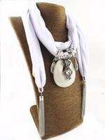 Tassle Cachecol com pingente de Cadeia Fringe Cachecol Jóias Longo colar de Pedra pingente Acessórios Senhoras Jóias Étnicas