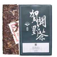 Hot ventes 200g Raw Puer thé brique Yunnan Helan sauvage Puer thé Pu'er naturel organique plus vieil arbre vert Puer thé