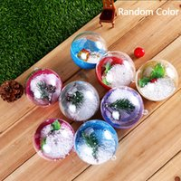 6cm 8cm 7cm Clear Christmas Decoration Hanging Ball Baubles ...