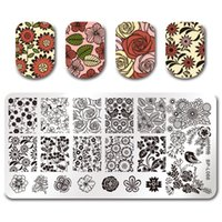 BORN PRETTY Floral Template Plaque à emboutir à ongles Cute School School Time Cours de leçon Rectangle Manucure Nail Art Image Plate