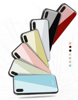Luxury Colors Glass Phone Case For iphone 8 7 6 Plus X Anti-...