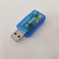 10pcs / MOLTO USB 2.0 a 3D 5.1 Adattatore audio audio Adattatore da 3,5 mm Virtual 5.1 CH Track