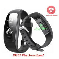Orginal Smart ID107Plus HR Herzfrequenz Armband Monitor ID107 Plus Armband Gesundheit Fitness Tracking für Android iOS Smart Watch ID107 Update