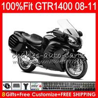 Injectielichaam voor Kawasaki GTR1400 08 09 10 11 116HM.0 GTR-1400 GTR 1400 2009 2009 2010 2011 Fairing Kit + 8Gifts Stock Glossy Zwart