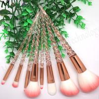 8 pz / set Unicorno Pennelli Trucco per il Trucco Cosmetico Blush pincel maquiagem Powder Foundation Eye Mermaid brush setkits, Hot